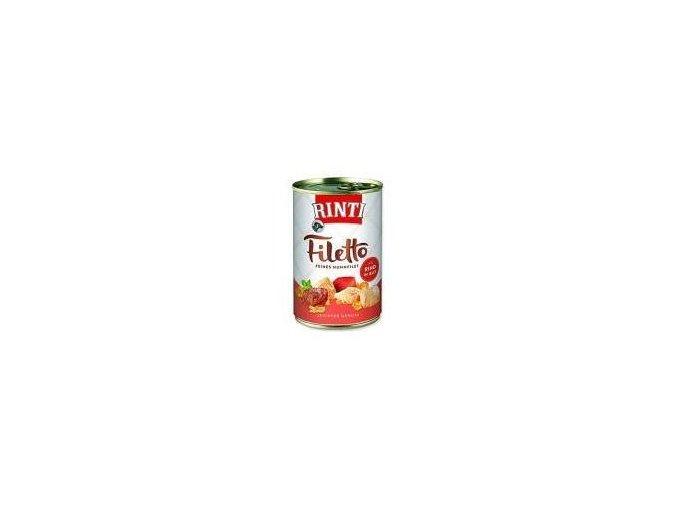 Rinti Dog Filetto konzerva kuře+hovězí v želé