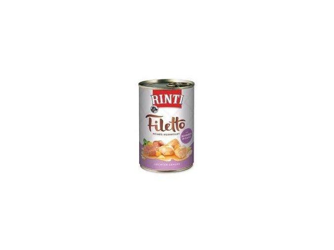 Rinti Dog Filetto konzerva kuře+šunka ve šťávě