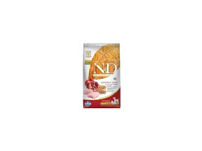 N&D LG DOG Light M/L Chicken&Pomegranate
