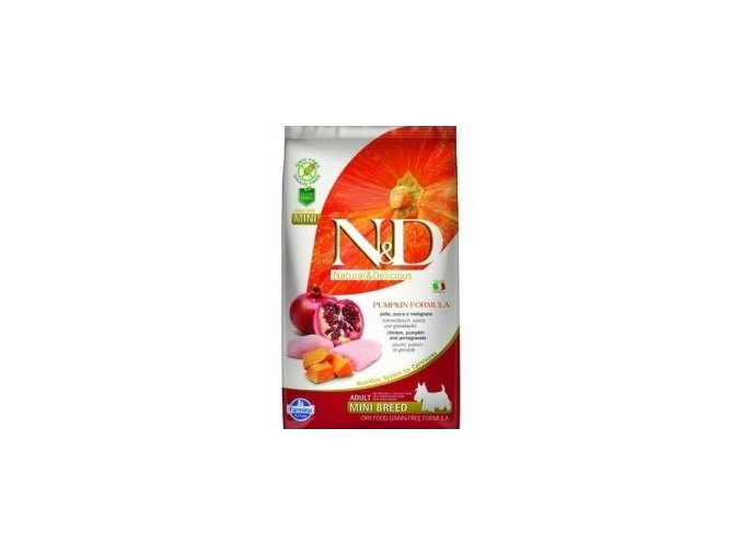 N&D Pumpkin DOG Adult Mini Chicken&Pomegranate
