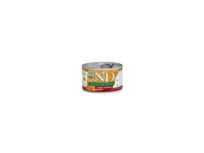 N&D DOG LOW GRAIN Adult Chicken &Pomegranate Mini 140g