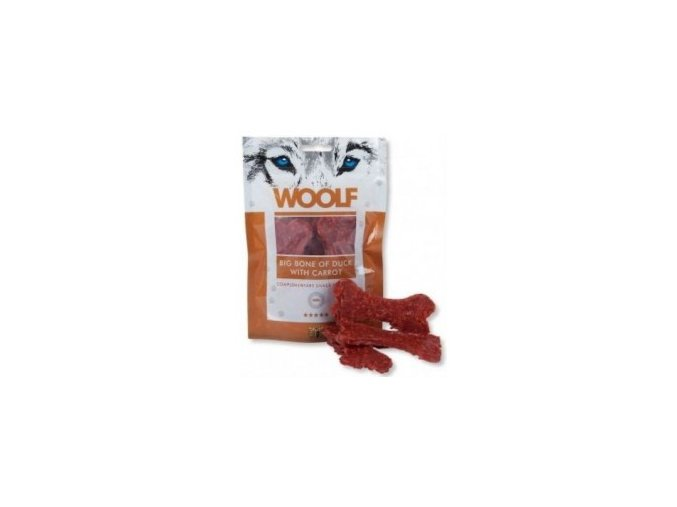 WOOLF pochoutka big bone of duck with carrot 100g