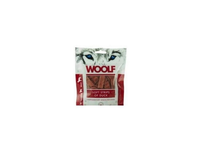WOOLF pochoutka soft strips of duck 100g