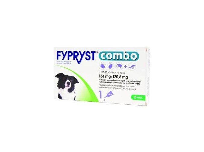 Fypryst combo spot-on 134/120,6mg pes střední 1 pip