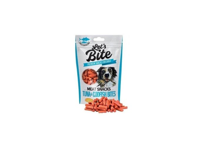 Brit Let's Bite Meat Snacks Tuna & Codfish Bites 80g