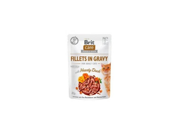 Brit Care Cat Fillets in Gravy Hearty Duck 85g