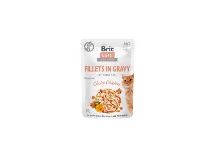Brit Care Cat Fillets in Gravy Choice Chicken 85g