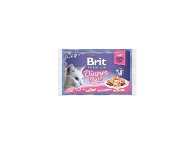 Brit Premium Cat D Fillets in Jelly Dinner Plate 340g