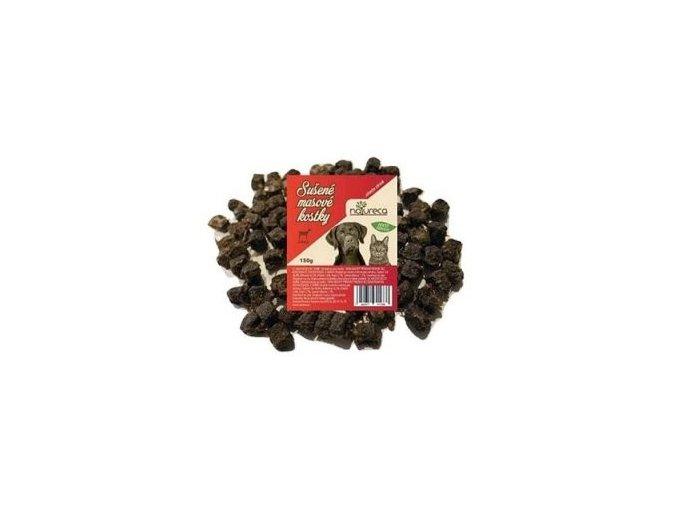 NATURECA pochoutka Masové kostky-Hovězí, 100%maso 150g