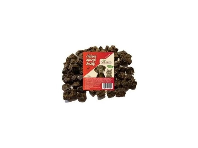 NATURECA pochoutka Masové kostky-Jelen, 100%maso 150g