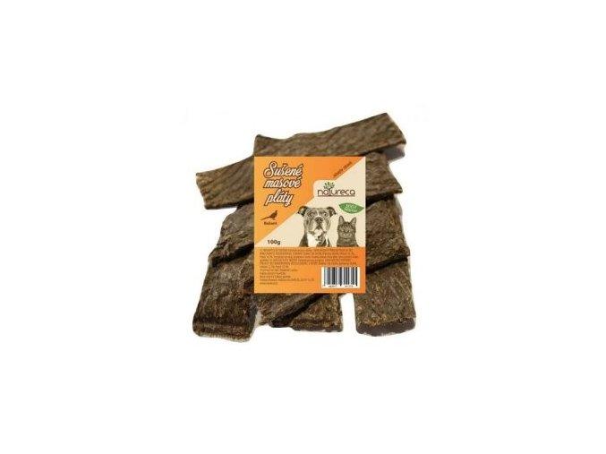 NATURECA pochoutka Masové pláty-Bažant, 100%maso 100g