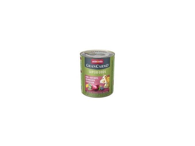 GranCarno Superfoods hovězí, červená řepa, ostružiny, pampeliška