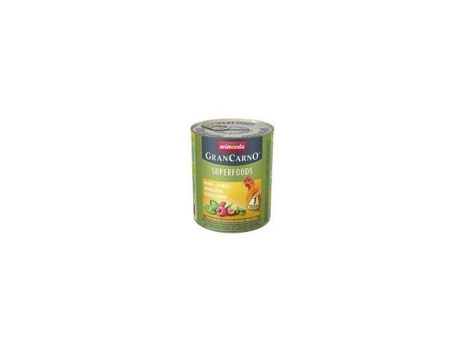 GRANCARNO Superfoods kuře,špenát,maliny,dýňová semínka