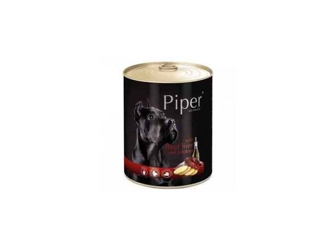 PIPER s hovězími játry a bramborami, konzerva pro psy