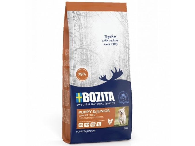 bozita dog puppy junior wheat free 2 kg