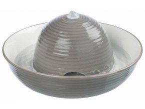 Pítko fontána VITAL FLOW, keramická 1,5 l šedo/bílé