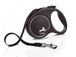 Vodítko FLEXI Black Design M pásek 5m/25kg