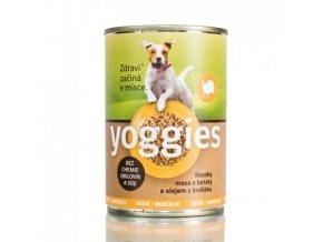 Yoggies krůtí konzerva pro psy s batáty a bodlákovým olejem