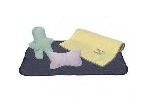 JUNIOR souprava (flísová deka 76x50cm, 2 hračky, ručník 50x40cm) -