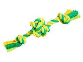 Míč se 2 rameny HipHop bavlněný 22 cm / 80 g limetková, zelená