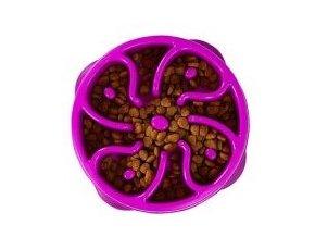 Zpomalovací miska Fun Feeder Flower fialová Medium