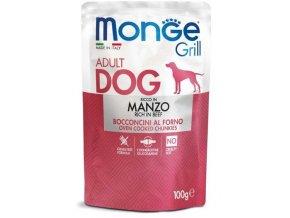 MONGE GRILL kapsička s hovězím masem pro psy 100 g