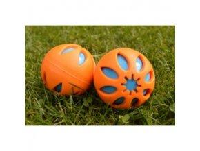 balonek derovany oranzovy s piskacim balonkem