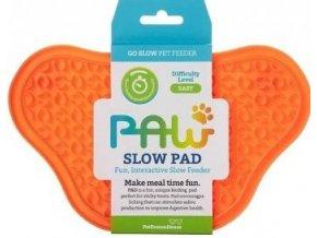 PetDreamHouse lízací podložka Paw Lick Pad – oranžová
