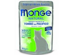 MONGE NATURAL kapsička tuňák v želé pro kočky 80 g