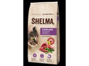 SHELMA Cat Sterilised Beef GF 8 kg