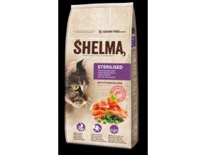 SHELMA Cat Sterilised Salmon GF 8 kg