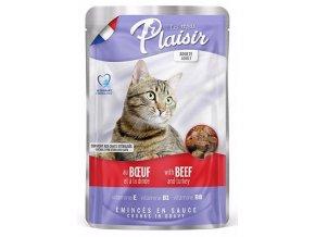 Plaisir Cat hovězí & krocaní, kapsička 100 g