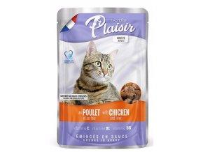Plaisir Cat kuřecí & játra, kapsička 100 g