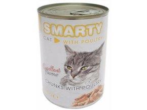 SMARTY chunks Cat Drůbeží 410 g