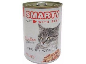 SMARTY chunks Cat Hovězí 410 g