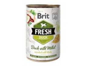 Brit Fresh Dog konz Duck with Millet 400g
