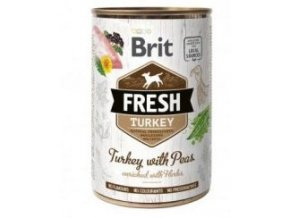 Brit Fresh Dog konz Turkey with Peas 400g