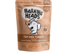 BARKING HEADS Top Dog Turkey kapsička 300g
