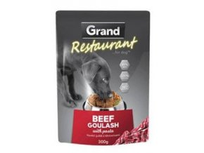 GRAND kaps. deluxe pes Restaur. hovězí guláš 300g