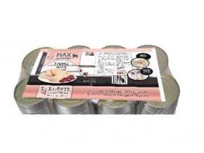Konzerva MAX deluxe 3/4 kuřete s ledvinkami 8x1200g
