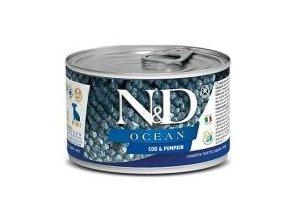 N&D DOG OCEAN Puppy Codfish & Pumpkin Mini 140g