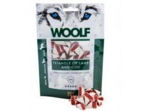 WOOLF pochoutka Lamb and Cod Triangle 100g