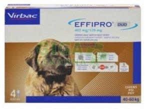 Effipro DUO Dog XL (40-60kg) 402/120 mg, 4x4,02ml