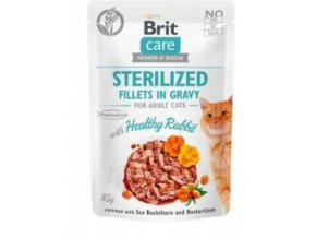 Brit Care Cat Fillets Gravy Steril Healthy Rabbit 85g