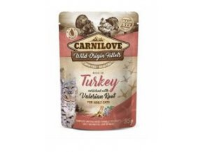 Carnilove Cat Pouch Turkey Enriched & Valerian 85g