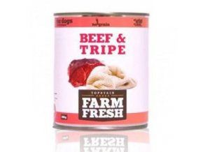 Farm Fresh Dog Beef&Tripe konzerva 800g
