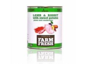 Farm Fresh Dog Lamb&Rabbit+Sw.Potatoes&Plum konz 800g