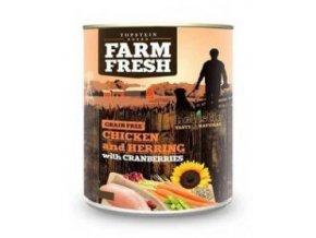 Farm Fresh Dog Chicken&Herring+Cranberries konzer