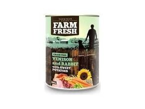 Farm Fresh Dog Venision&Rabit+Sweet Potatoes konz