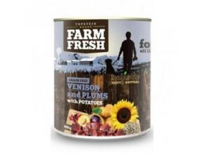 Farm Fresh Dog Venision&Plums+Potatoes konzerva